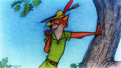 Walt Disney's Robin kofia karatasi la kupamba ukuta entitled Robin kofia