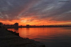 SUNSET ALEXANDRIA EGYPT