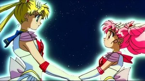Sailor Moon and mini Moon