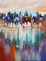 Settling the Boarder Dispute by Bruce King (Oneida artist)