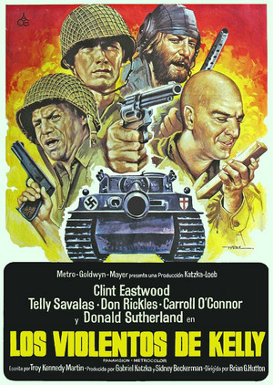 Spanish movie poster for Kelly's Heroes
