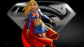 dc-comics - Supergirl   Black   White 2 wallpaper