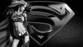 dc-comics - Supergirl   Black   White wallpaper