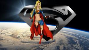Supergirl 壁纸 - In 太空 5