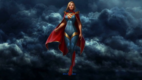 Dc comics images supergirl in the clouds hd wallpaper and background dc comics wallpaper entitled supergirl in the clouds voltagebd Images