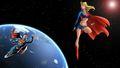 dc-comics - Supergirl   Superman In Space 2 wallpaper