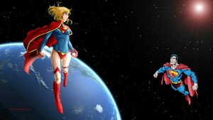 Supergirl Superman In Space