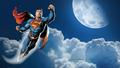 dc-comics - Superman In The Clouds  2a wallpaper
