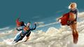 dc-comics - Superman   Supergirl In The Clouds 2 wallpaper