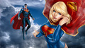 dc-comics - Superman   Supergirl In The Clouds 3 wallpaper