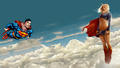 dc-comics - Superman   Supergirl in The Clouds 1 wallpaper