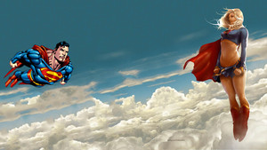 スーパーマン Supergirl in The Clouds 1