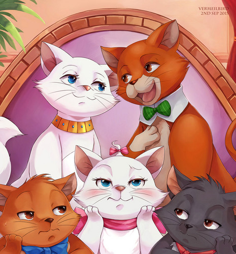The Aristocats karatasi la kupamba ukuta called The Aristocats