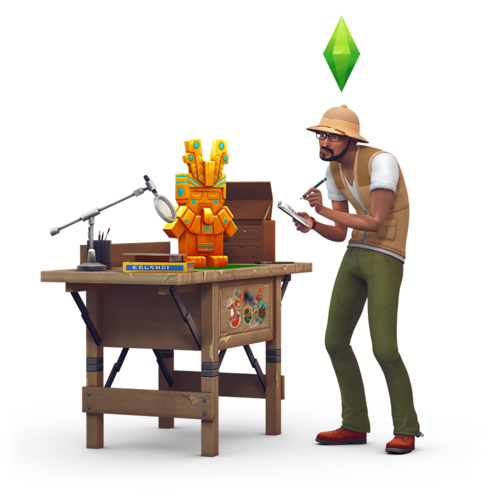 Sims 4 karatasi la kupamba ukuta titled The Sims 4: Jungle Adventure Renders