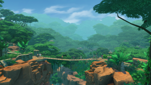Sims 4 karatasi la kupamba ukuta called The Sims 4: Jungle Adventure