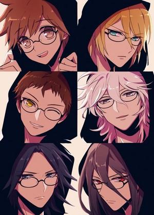 Togami, Naegi, Hajime, Nagito, and two others | Danganronpa