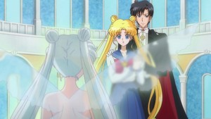 Usagi Mamoru and Queen Serenity