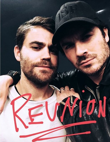 the vampire diaries tv tampil wallpaper titled Vampire Diaries: Paul Wesley posts Salvatore brother reunion pic with Ian Somerhalder