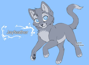 Warrior chats character design templates jayfeather par warriorcatscrazy d5ri30y