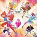 Winx club pinkbloom comic edition precious stone - the-winx-club fan art