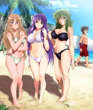Yuna ,Saori and Shaina(Saint Seiya Omega)