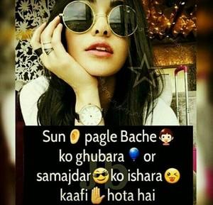 attitude girl status hindi