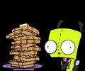 gir with waffles by pokemon mafia boss - invader-zim photo
