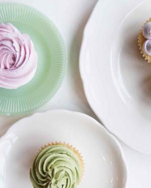 local creative ovenly natural dyes frosting cupcakes dessus de la table, dessus de table 0529 vert
