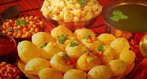 Indian Food wallpaper entitled pani puri