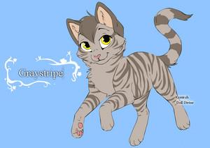 warrior gatos character design templates graystripe por warriorcatscrazy d4hc2hg