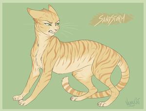 warrior kucing sandstorm oleh vanycat d9n2ucl