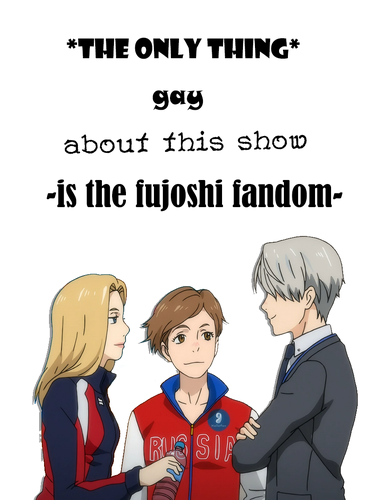 Yuri!!! on Ice fond d'écran titled yuri on ice straight fact
