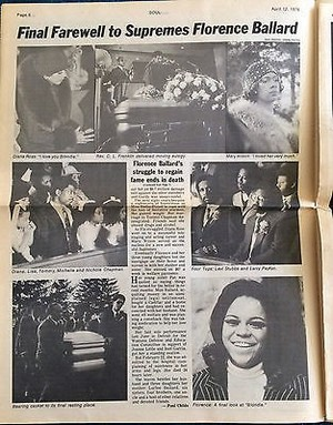 1976 makala Pertaining To Florence Ballard's Funeral