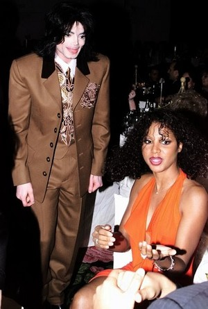 Michael Talking With Toni Braxton