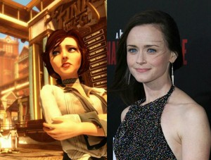 Alexis Bledel as Elizabeth from BioShock