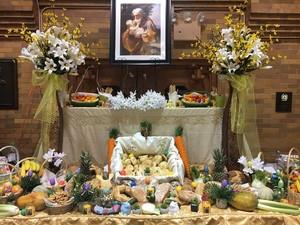 Italian altar for Saint Joseph's día