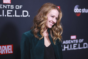 Amy Acker attends Agents of Shield 100th episode party