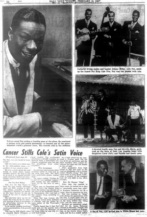 articolo Pertaining To The Passing Of Nat King Cole