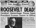 Article The Passing Of Franklin Roosevelt  - celebrities-who-died-young photo