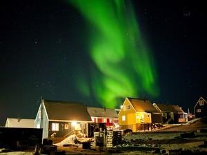 Aurora Borealis Over Greenland