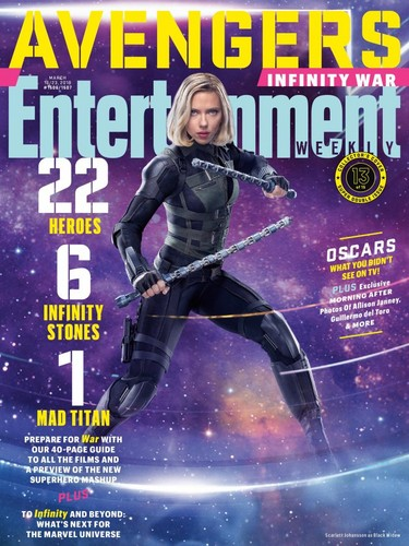 the avengers wallpaper titled Avengers: Infinity War - Black Widow Entertainment Weekly Cover
