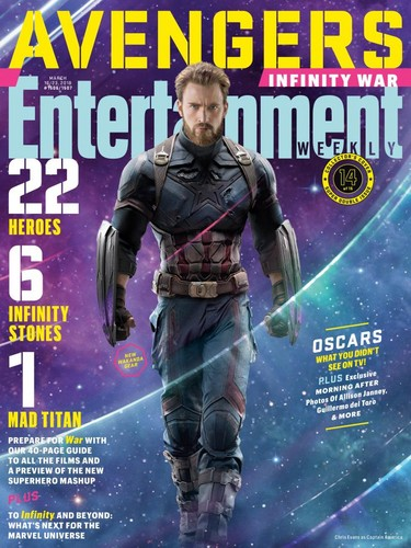 the avengers wallpaper titled Avengers: Infinity War - Captain America Entertainment Weekly Cover