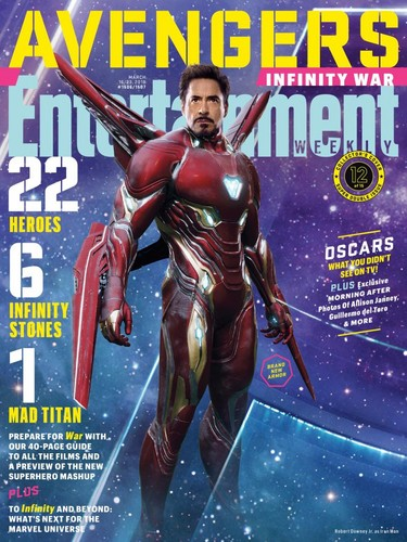 The Avengers kertas dinding titled Avengers: Infinity War - Iron Man Entertainment Weekly Cover