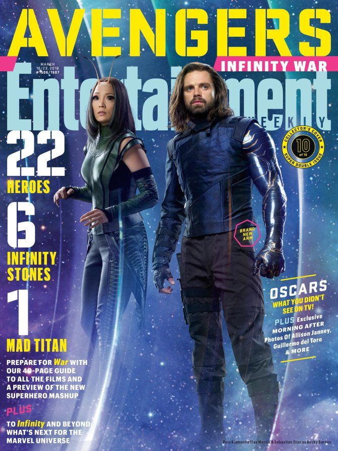 Avengers: Infinity War - Mantis and Winter Soldier Entertainment Weekly Cover