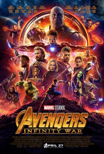 The Avengers karatasi la kupamba ukuta called Avengers: Infinity War Poster