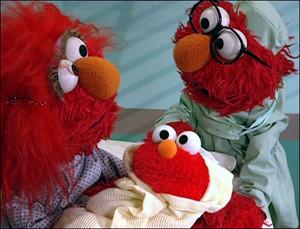 Baby Elmo, Elmo's Mom and Elmo's Dad (Elmo's World)