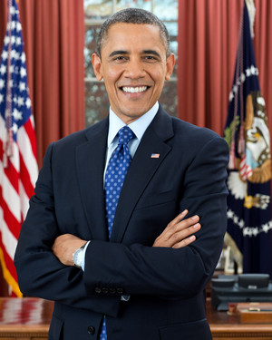 Barack Obama, The Former US President, In Oval Office