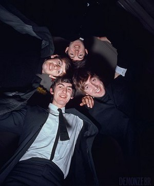 Beatles huddle