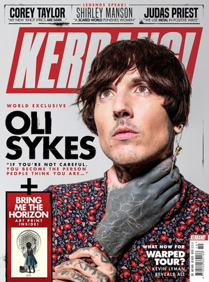 Bring Me The Horizon's Oli Sykes at Kerrang Magazine Photoshoot