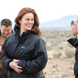 Cassidy on the set of Longmire